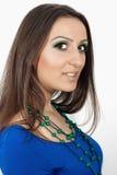 Grön makeup Royaltyfria Bilder
