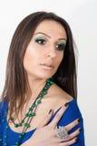 Grön makeup Arkivfoton