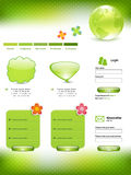 grön mallwebsite Royaltyfri Bild