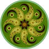 Grön mandala 1 Royaltyfria Bilder