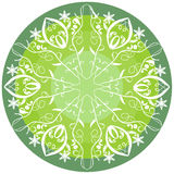 Grön mandala för vitalitet Royaltyfri Foto