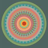 Grön mandala. vektorillustration Royaltyfri Fotografi