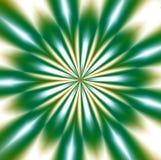 Grön mandaladesign, abstrakt bakgrund Arkivbild