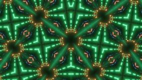 Grön mandalakalejdoskop med modellen stock illustrationer