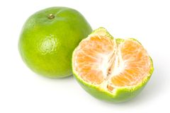 grön mandarinorange arkivbilder