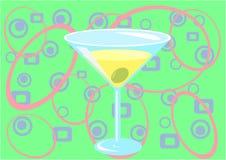 grön martini tid vektor illustrationer