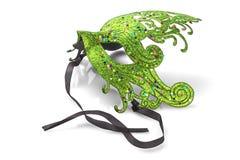 grön maskering för karneval Arkivfoto