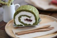grön matchatea för cake royaltyfri foto