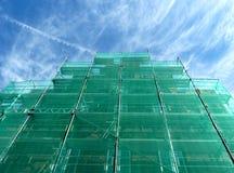 grön material till byggnadsställning Arkivfoton