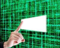 grön matris Arkivfoton