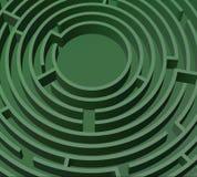 grön maze Royaltyfria Foton