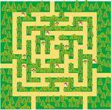 grön maze för skog Arkivbild