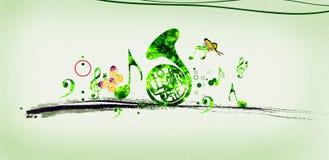 grön melodi stock illustrationer