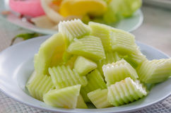 grön melon Arkivfoton