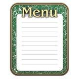 grön meny för blackboard Royaltyfri Fotografi