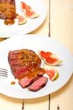 Grön mignon för pepparkornnötköttfilet Royaltyfria Bilder