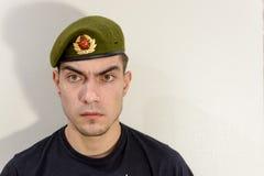 grön militär för basker Royaltyfri Fotografi