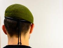 grön militär för basker Royaltyfri Foto
