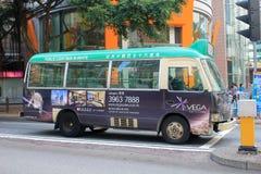 Grön minibuss i Hong Kong Arkivfoton