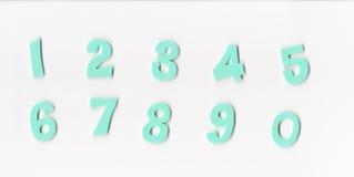 Grön mintkaramell nummer 1-10 arkivbild