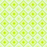 Grön modell för bakgrund med blommor Vektor Illustrationer