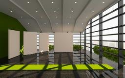 Grön modern kontorsinre Arkivfoto