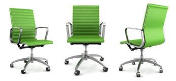 grön modern kontorswhite för stol vektor illustrationer