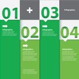 Grön modern plan designinfographics Royaltyfri Bild