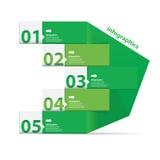 Grön modern plan designinfographics Royaltyfri Fotografi