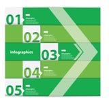 Grön modern plan designinfographics Royaltyfria Foton