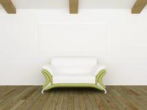 grön modern sof-white Arkivbild