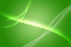 Grön morgonrodnad Fotografering för Bildbyråer