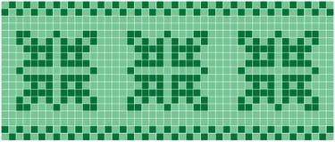 grön mosaik Arkivfoto
