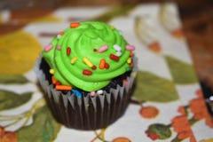 Grön muffin Royaltyfri Bild