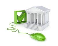 Grön mus, tickfläck och domstol. Arkivfoto