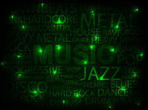 grön musik för kort Royaltyfria Bilder