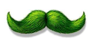 Grön mustasch vektor illustrationer