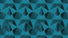 Grön netto linje geometrisk kalejdoskopanimering för spindel vektor illustrationer