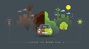 Grön och brun halv bil Royaltyfri Bild