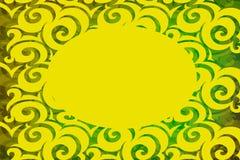 Grön och gul bakgrund fotografering för bildbyråer