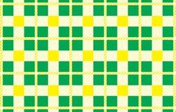 Grön och gul modell Textur från romben för - plädet, borddukar, skjortor, klänningar, papper, sängkläder, filtar, täcken och anna vektor illustrationer