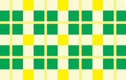 Grön och gul modell Textur från romben för - plädet, borddukar, skjortor, klänningar, papper, sängkläder, filtar, täcken och anna stock illustrationer