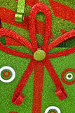 Grön och röd julbakgrund Fotografering för Bildbyråer