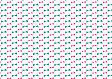 Grön och rosa triangelbandmodell Royaltyfria Bilder