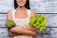 Grön och sund mat Fotografering för Bildbyråer