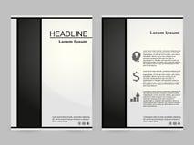 Grön och svart broschyrdesign stock illustrationer