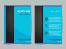Grön och svart broschyrdesign royaltyfri illustrationer
