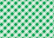 Grön och vit plädvektorbakgrund tablecloth Vektor mig royaltyfria bilder