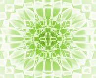 Grön och vit stjärnamodell Arkivbilder
