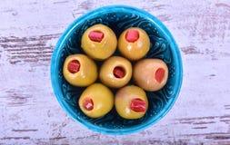 Grön oliv Fotografering för Bildbyråer